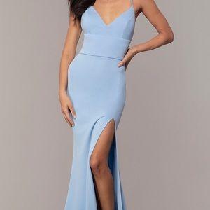 Gorgeous dress sky blue Sz 0 Prom Girl used once!